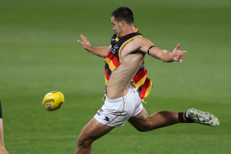 Darcy Fogarty in action during round two.
