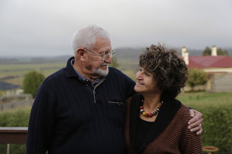 "Dixie and Eve in Tasmania in 2013 researching his family roots. Eve believes  her mum would be proud the two of them have bonded ""as he was part of her life, too""."