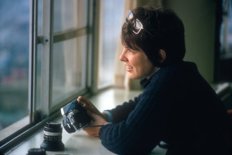 Photojournalist Martha Cooper at home in New York, sometime in the 1970s.