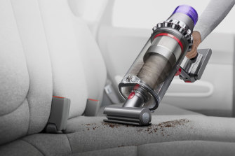 The Dyson V11 Outsize has a bigger battery and dust bin for all your extra gross stuff.