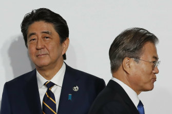 Frosty relations between Shinzo Abe and Moon Jae-in are being fuelled by public attitudes, with many voters opposed to reconciliation.