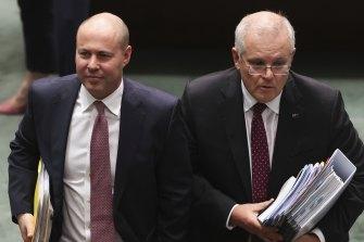 Treasurer Josh Frydenberg and Prime Minister Scott Morrison Morrison and Frydenberg unleashed an avalanche of money in the budget.