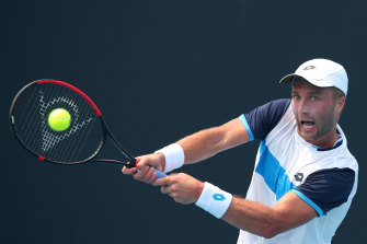 Britain's Liam Broady has lashed out at organisers over having to play in smoky conditions.