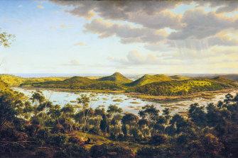 Tower Hill circa 1855, by painter Eugene von Guerard.