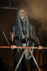 Production Images of Bell Shakespeare's Julius Caesar. Kenneth Ransom as the ghost of Caesar.