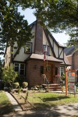 The house in Queens where Donald Trump spent his early childhood.