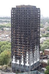 The burnt Grenfell Tower apartment building in London, which opened the world's eyes to the dangers of the material.