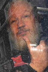 Facing the prospect of US prosecution ...  Julian Assange.