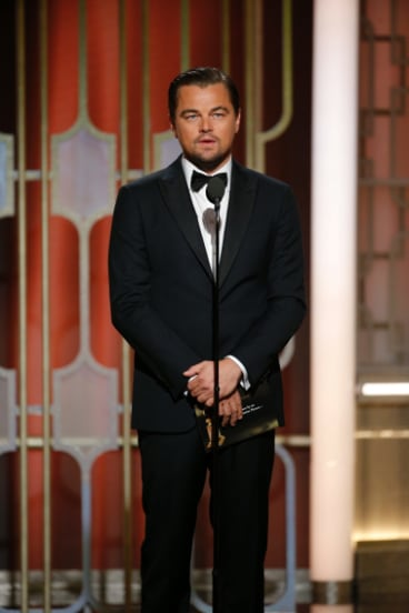 Leonardo DiCaprio, seen here at the 74th Annual Golden Globe Awards, turned down <i>Brokeback Mountain</i>, <i>American Psycho</i> and <i>Boogie Nights</i>.