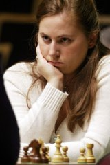Your move: Judit Polgar rose to eighth in the world against the odds.