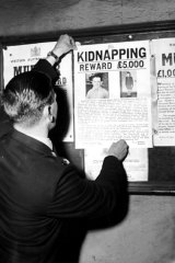 Reward poster for the case of the kidnapping of Graeme Thorne in July 1960.