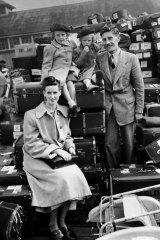 The Nicol family, British migrants to Australia, 1950. Photo courtesy of the National Archives of Australia.