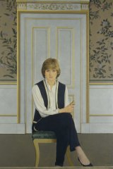 Bryan Organ's portrait of Princess Diana was slashed with a knife.
