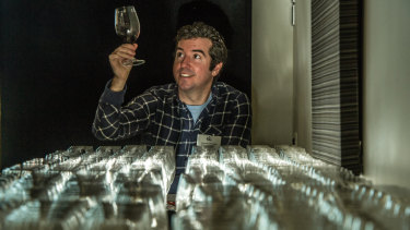 Chairman of judges Sebastian Crowther is excited by the variety of wine at the Canberra and Region Wine Show.