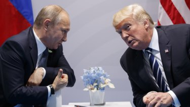 Russian President Vladimir Putin and US President Donald Trump at the G20 in Hamburg last year.