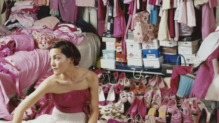 An Australian research poll showed 20 per cent of people owned more than 100 garments, not including underwear or accessories.