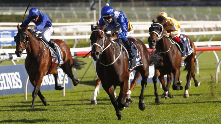 Unstoppable: Jockey Hugh Bowman on Winx.