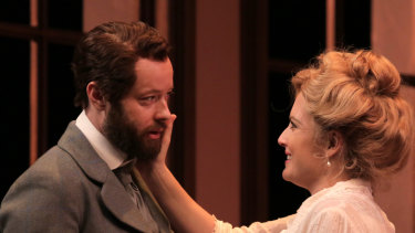 Gareth Davis and Emily Rose Brennan as Gwynne, who discovers her inner feminist.