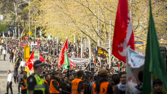Traffic chaos in CBD as march, football bring city to standstill
