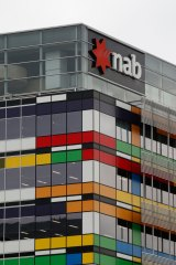NAB's building at 800 Bourke is known as the Rubik's Cube in property circles.