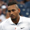 Kyrgios hot under the collar, but soars into US Open third round