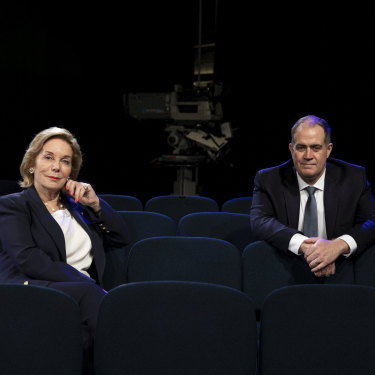 """Anderson with ABC chair Ita Buttrose: """"Ita will never say, 'David, do this because the government wants it,' """" he says."""