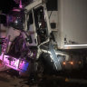 Man freed from wreck after three-truck smash closes Bruce Highway