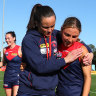 Demons victorious in AFLW, injury cloud over Daisy Pearce