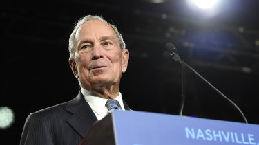 Democratic presidential candidate Michael Bloomberg.