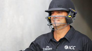 Umpire Gerard Abood.