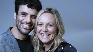 Fayssal Bazzi and Marta Dusseldorp play doomed lovers Freddie and Hester in the Sydney Theatre Company's production of The Deep Blue Sea.