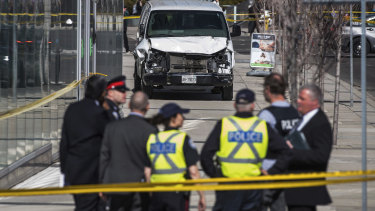 The aftermath of the attack in Toronto.