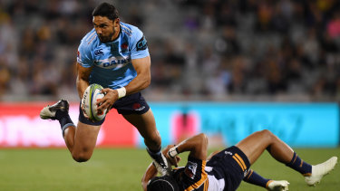 Slim pickings: Departing winger Curtis Rona is  top try scorer for the Waratahs this season on six tries.