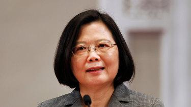 Taiwan's President Tsai Ing-wen.