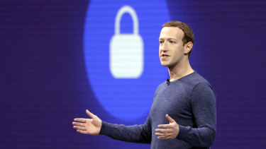 News lockout ... Facebook CEO Mark Zuckerberg.