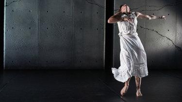 A dancer performs in Burrbgaja Yalirra - Three Short Works.