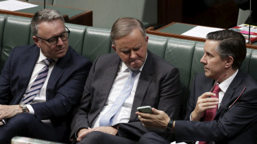 Labor MP Joel Fitzgibbon, left, supports government subsidies for gas pipelines, but his colleague Mark Butler, right, says they are unnecessary.