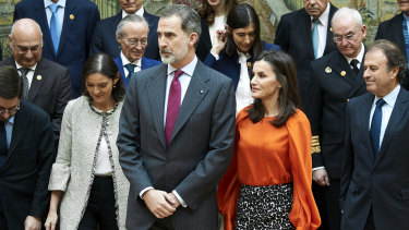 Questions about Saudi gift; King Felipe VI and Queen Letizia of Spain in Madrid.