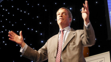 """The EU was run by a """"bunch of gangsters"""", Farage said."""