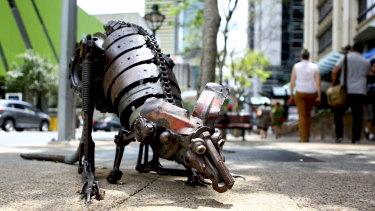 One of Trotter's famous Kangaroos, on George Street in Brisbane.