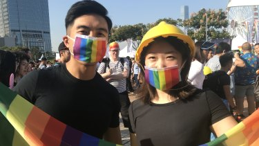 The annual pride parade in Hong Kong.