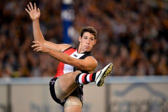 Arryn Siposs during his AFL playing days.