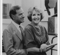 Penelope Keith stars with Geoffrey Palmer as her husband in Executive Stress, 1987.