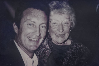 """Brown with his """"incredible"""" mum Molly."""