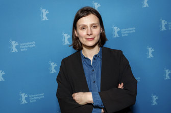 Sandra Wollner, the director of The Trouble With Being Born, at the 2020 Berlin Film Festival.
