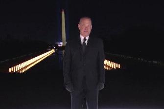 Tom Hanks hosted the Celebrating America event.