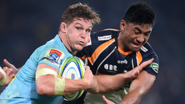No more excuses: Michael Hooper again had to front the cameras to explain a Waratahs loss.