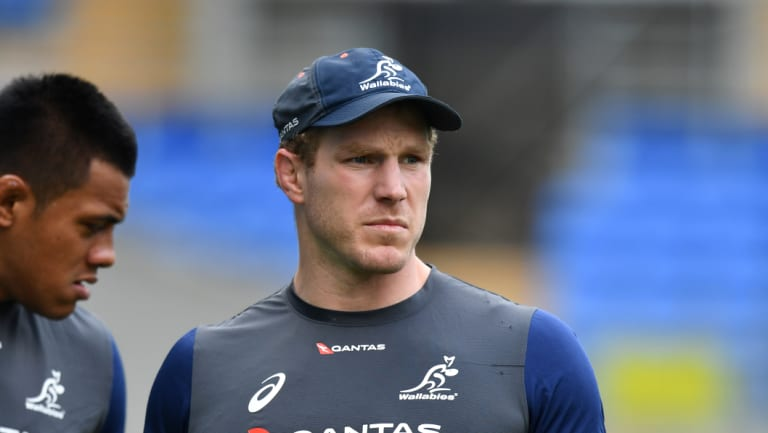 Sore: Wallabies back-rower David Pocock has not been given the green light yet to face the Pumas.