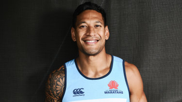 Religious: Israel Folau said on Instagram this week that God's plan for gay people was 'hell'.