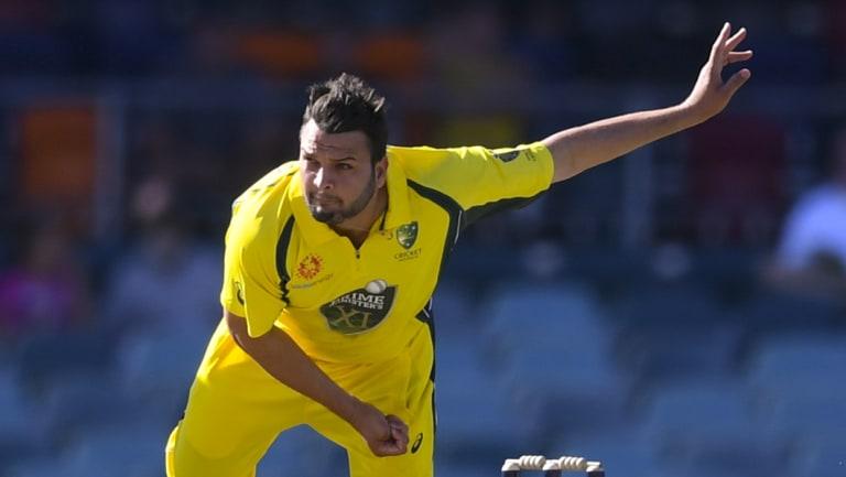 Usman Qadir in action.